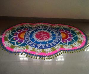 Rangoli: Happy bday laksh