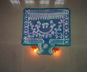 Rangoli: Krishna jeyanthi pujakolam