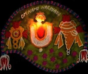 Rangoli: navaratri day 3