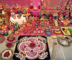 Rangoli: navaratri day 6