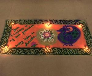 Rangoli: Happy bday arthy