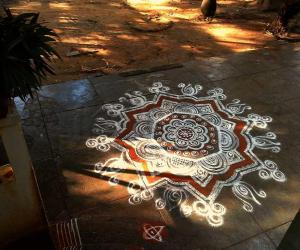Rangoli: swami saranam