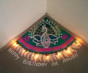 Rangoli: Happy bday anush