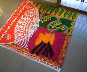 Rangoli: Happy boghi