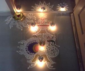 Rangoli: Karthigai kolangal