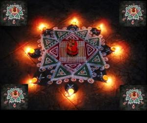 Rangoli: double damaka