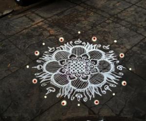 Rangoli: friday diyas
