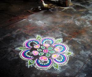 Rangoli: arudhra dharisanam kolam