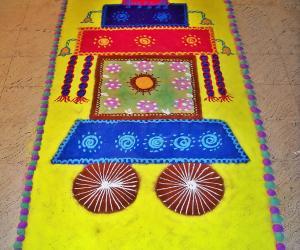 Rangoli: happy ratha sapthami