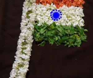Rangoli: happy republic day