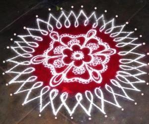 Rangoli: happy bday rani