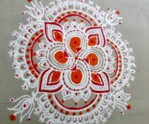 Rangoli: orange delight