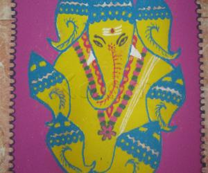Rangoli: sangu pillaiyar - for navratri contest 2012