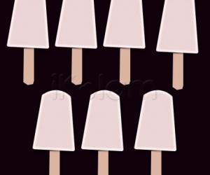 Rangoli: Milk ice stick