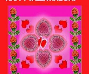 Rangoli: valentine day rangoli 1