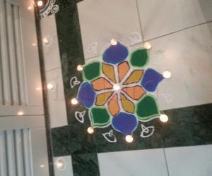 My Colourful Navratri Rangoli