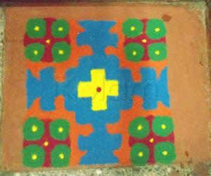 Rangoli: Dhanteras