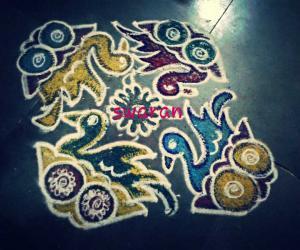 Rangoli: Navrathri - Day 3 - ColourKolam