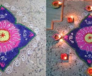 Rangoli: Rangoli for Thiru Karthikai 2012