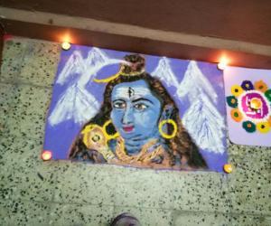 My Diwali rangoli. Shiv dev