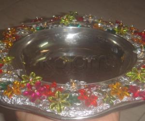 stone aarthi plate