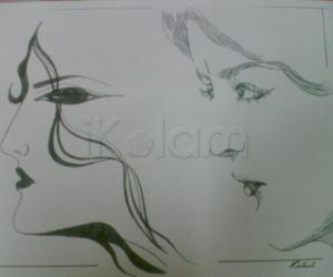 Rangoli: Two Ladies