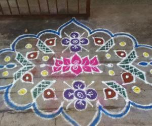 Rangoli: diyas