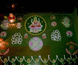Rangoli: diwali stencil rangoli