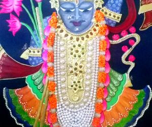 Shreenathji Painting closer look