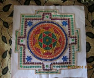 Rangoli: Sree Chakra