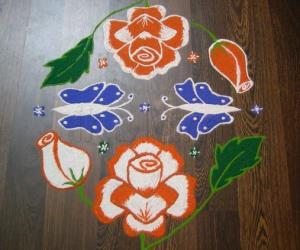 Rangoli: happy republic day!