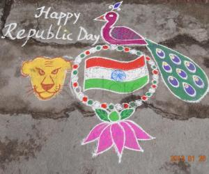 Rangoli: Happy Republic Day :)