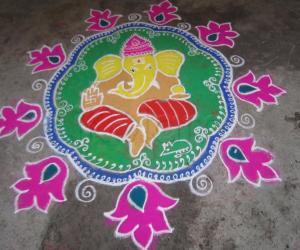 Rangoli: Vinayaka Chavithi Muggu