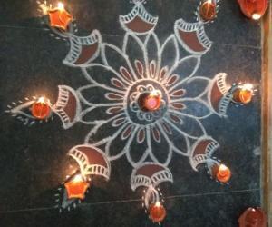 Rangoli: Karthigai deepam