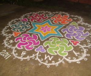 One of my  Rangoli