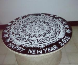 Rangoli: happy new year 2015