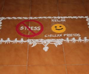 Rangoli: Stress Awareness day