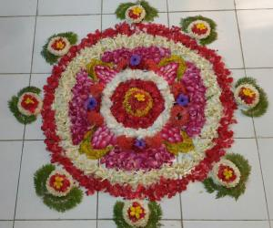 Pookolam for onam