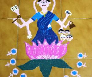 Rangoli: Women's day