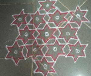 dotted colour  kolam