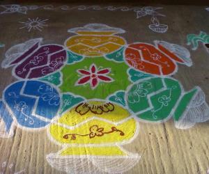 Rangoli: Pongal kolam 3