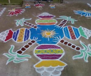 Rangoli: Pongal kolam 2