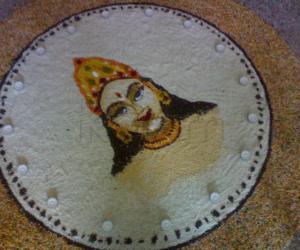 Rangoli: sarasvathi pooja