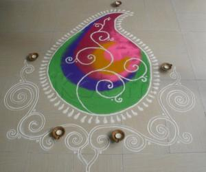 Rangoli: diwali dinner