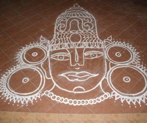 Rangoli: narayana hari narayana
