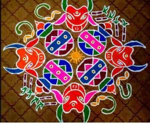Rangoli: Pongal muggu