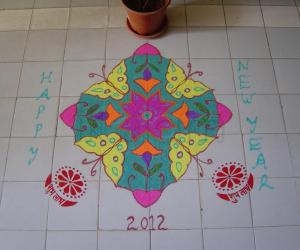 Rangoli: NEW YEAR_2012