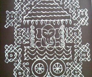 Rangoli: ganesh rangoli
