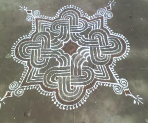 Rangoli: Karthigai -  inspiration kolam
