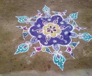 Rangoli: Blue Beauty